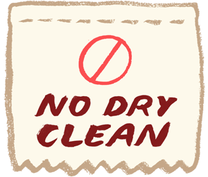 No Dry Clean
